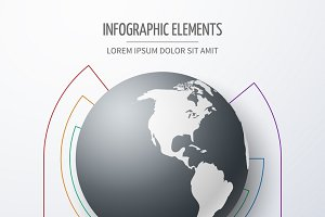 International infographic diagram