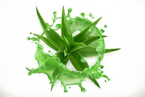 Aloe juice, 3d vector