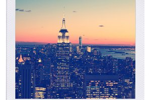 Downtown NYC Skyline at Dusk