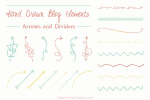 Hand Drawn Arrows and Dividers