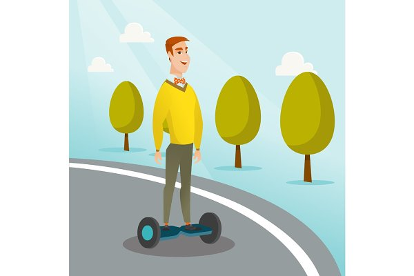 Man riding on self-balancing electr…
