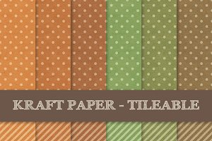 Polka Dots and Stripes ~ Kraft Paper