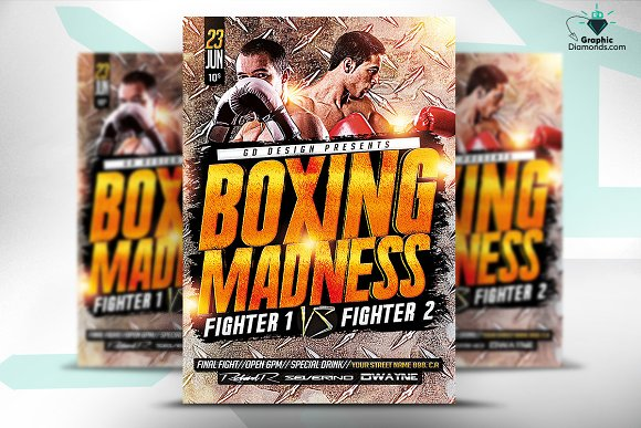 Boxing Madness PSD Flyer