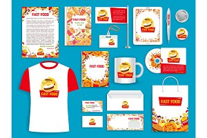 Corporate identity vector items for fast food