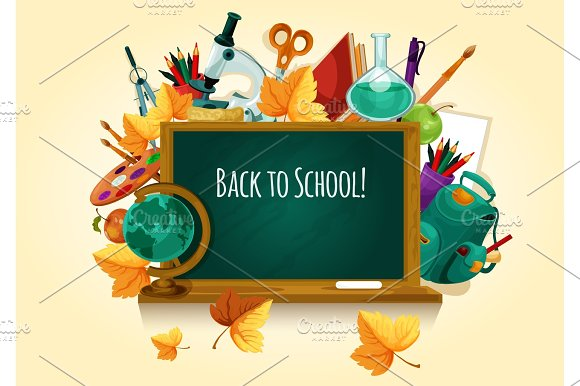 Back To School Chalked Text On Blackboard