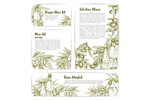 Olive oil extra virgin product vector templates