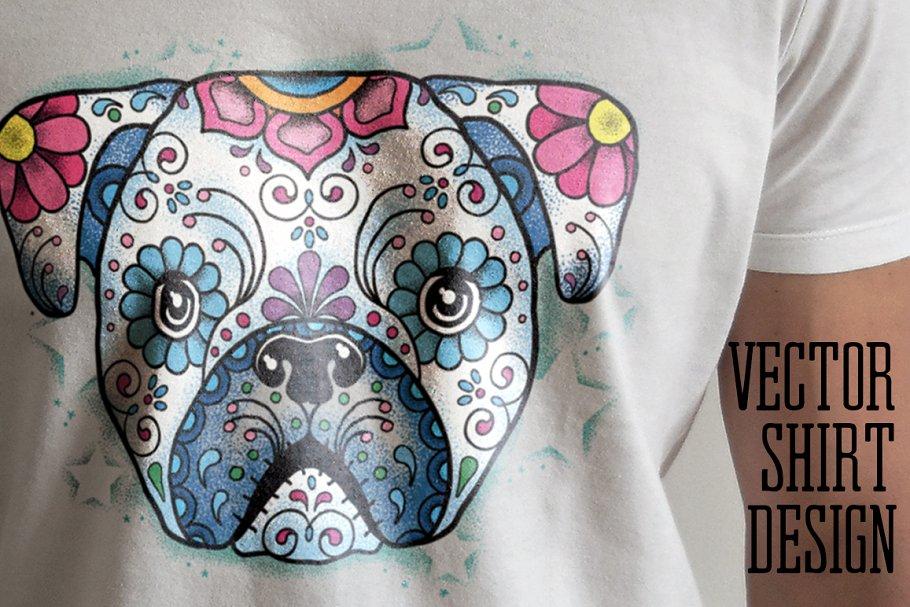 35c3ce571 Puppy Calavera Tattoo Style Vector ~ Illustrations ~ Creative Market