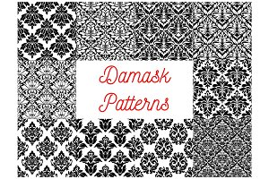 Damask seamless decor patterns