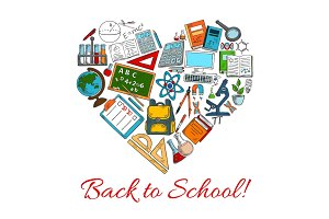 Back to School vector autumn season poster