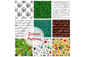 Vector seamless pattern of science and knowledge