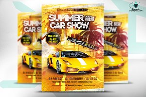 Summer Break Car Show Flyer