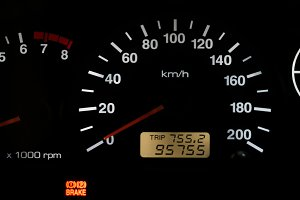 Horizontal isolated car speedometer no fuel panel background bac
