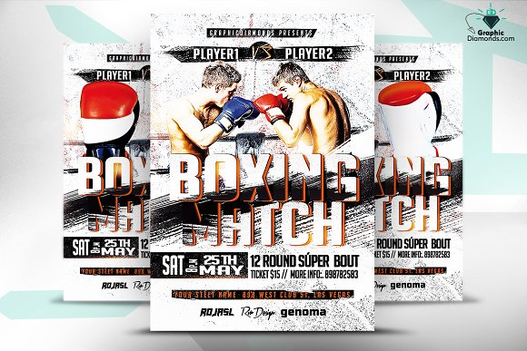 Boxing Flyer PSD