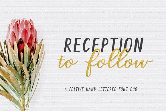Reception To Follow