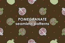 Pomegranate patterns set.