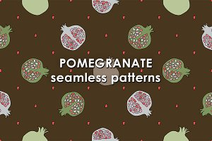 Pomegranate patterns set.