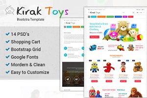 Toys  Bootstrap Ecommerce PSD
