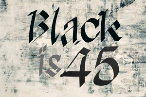 Black is 45 - font