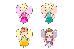 Cute little winged fairies. eps+jpg