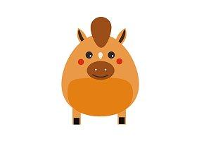 Cute horse icon