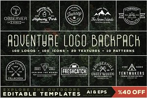 Adventure Logo Backpack