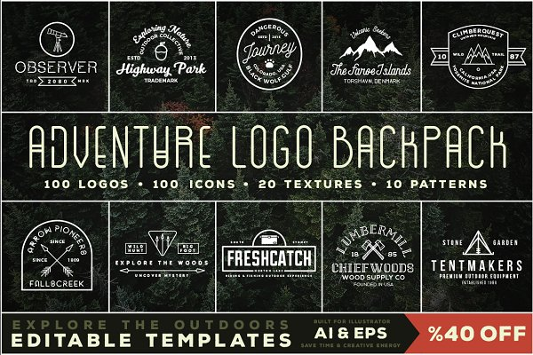 Adventure Logo Backpack