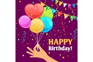 Happy birthday kids fun poster