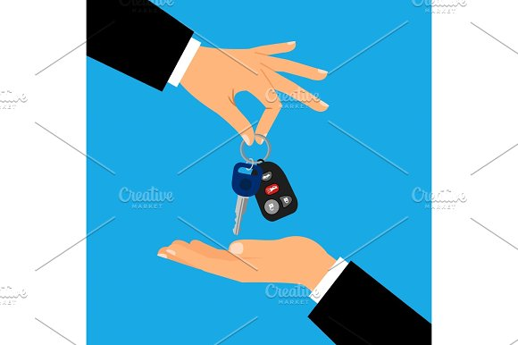 Car Keys With Men Hands