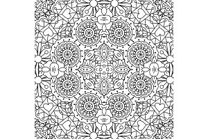 Doodle ornamental pattern with flowers