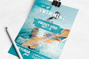 Swiming Festival Flyer Template