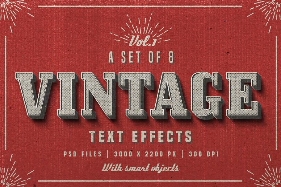 Vintage Photoshop text effects ~ Photoshop Add-Ons ~ Creative Market
