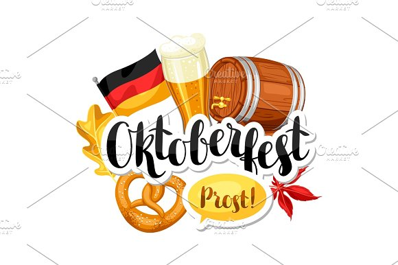 Oktoberfest Beer Festival Illustration Or Poster For Feast
