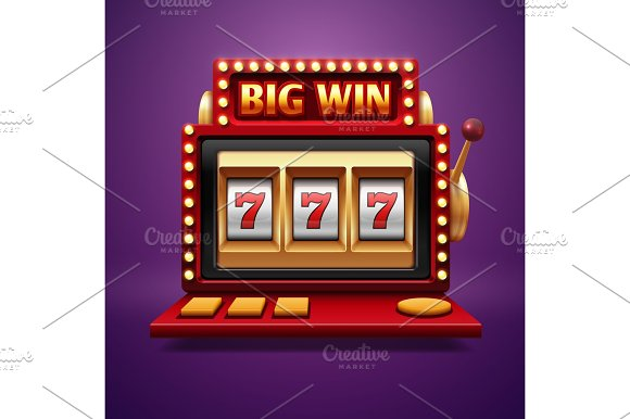 Jackpot Slot Casino Machine Vector One Arm Bandit