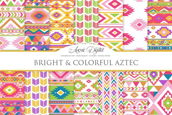 Colorful Boho Seamless Patterns