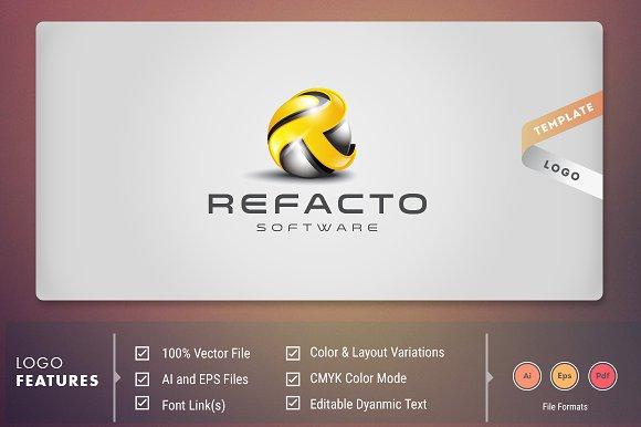Refacto Software Logo Template
