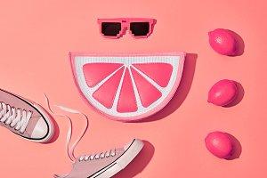 Fashion Summer Hipster Set, Lemon. Minimal Style