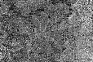 Horizontal black and white flora textured wall background