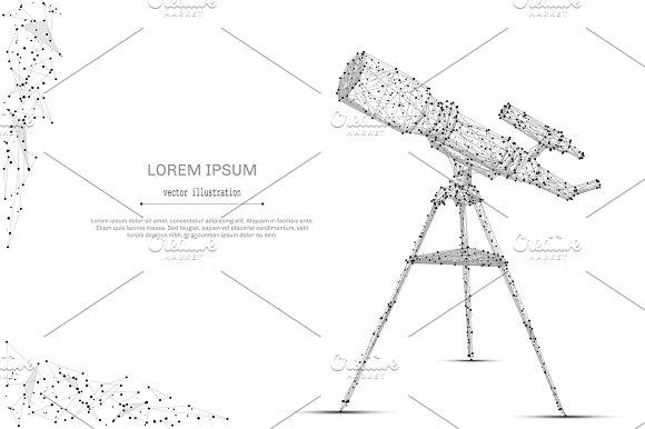 Telescope Low Poly Gray