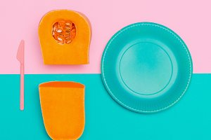 Pumpkin Soup Vegan Minimal art