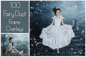 100 Fairy Dust Frames PNG
