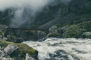 Bridge over wild Creek