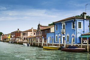 Multicolored houses in Venice