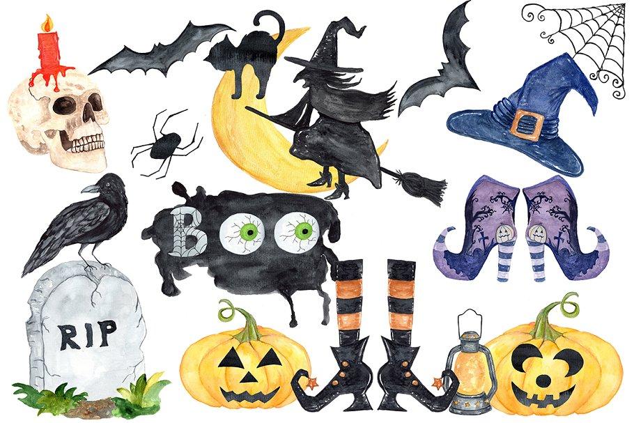 Halloween clipart,Halloween Planner | Pre-Designed ...
