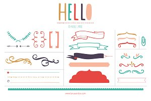 Happy Banners (Clipart)