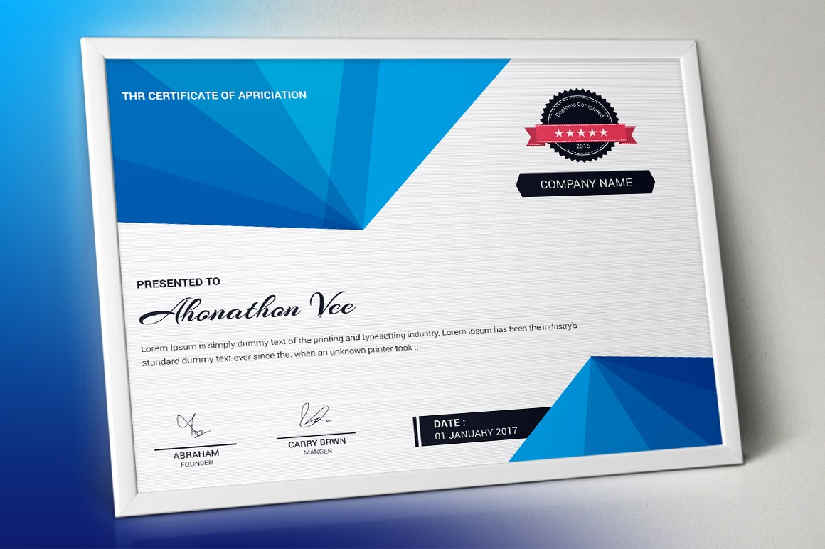 Certificate Template | Vol. 01 ~ Stationery Templates ...
