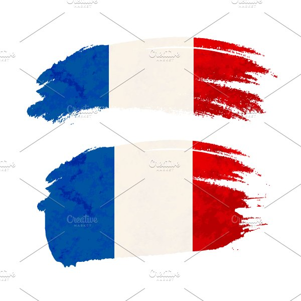brush stroke with france flag graphic objects creative market