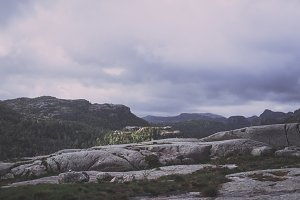 Mountain Landscape in Fjord Norway