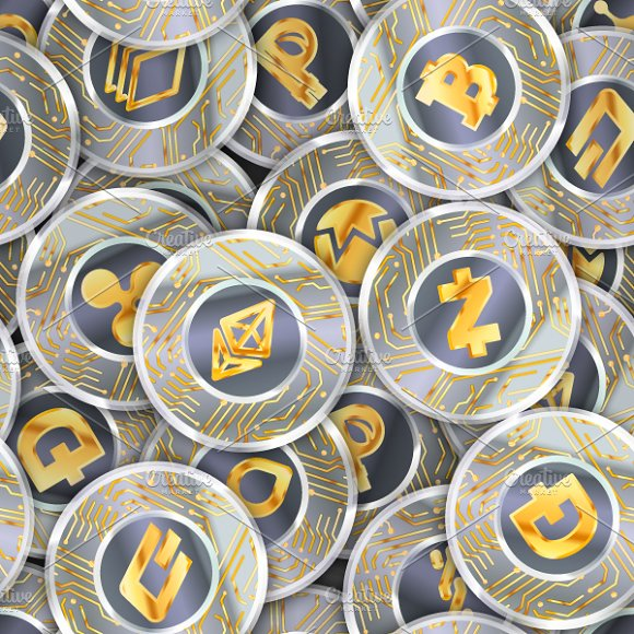 Pattern With Cryptocurrency Coins