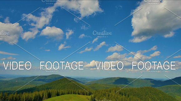 Green Hills With Shadows From The Clouds In Carpathian Mountains Timelapse