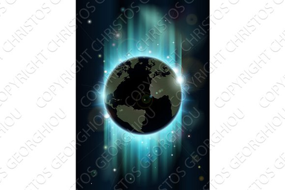 Abstract world globe space background